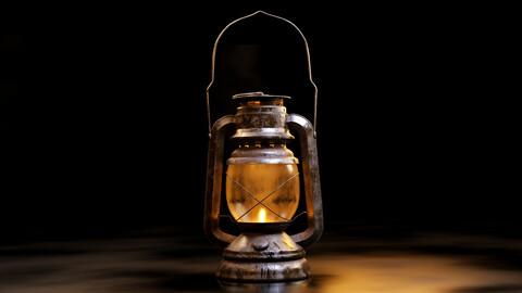 Old oil lantern-Lantern