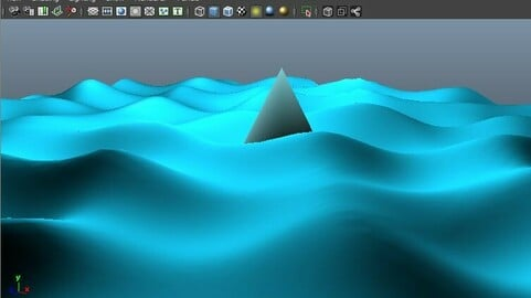 Ocean water waves tutorial - Maya 2013