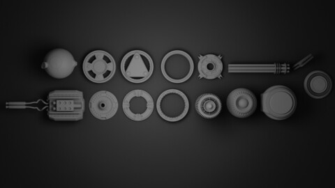 Kitbash hard surface game assets