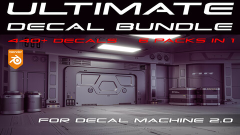 ULTIMATE Sci-Fi Decal Bundle for Blender - Decal Machine 2.0 ready