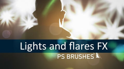 Realistic lights FX Photoshop brushes
