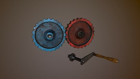 Gear Train With Handle