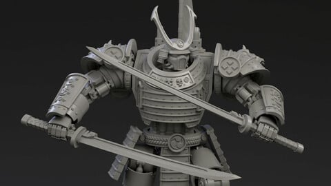 DeamonSlayer-Samurai Multipart Kit for 3D Print