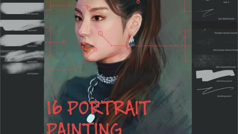 Infinite Painter Portrait Painting Brush Pack