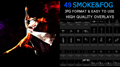 Smoke and Fog photo Overlays
