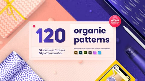 Organic patterns - 120 textures and brushes collection