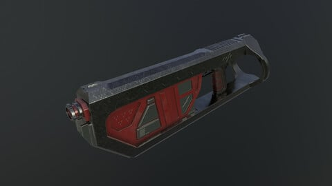 Low poly and High poly gun-JD8920H1