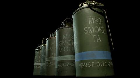 M18 and M83 Smoke Grenades