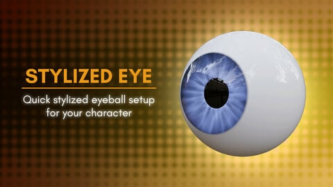 Quick Stylized Eyeball Setup Models for Blender and ZBrush