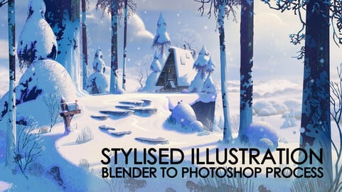 Stylised Illustration Tutorial - A Blender to Photoshop Process