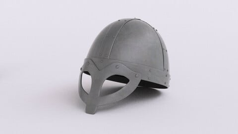 Viking age steel helmet #2 3d model