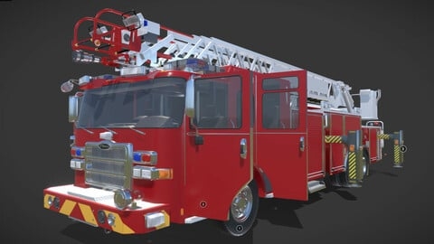 Firetruck Pierce 105 HEAVY-DUTY STEEL AERIAL LADDER