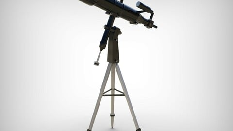 Realistic Telescope Lowpoly Blender model Low-poly