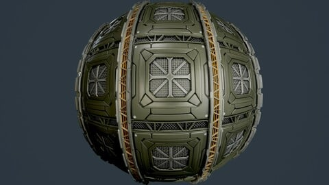 Sci-Fi Military Seamless PBR Texture 91