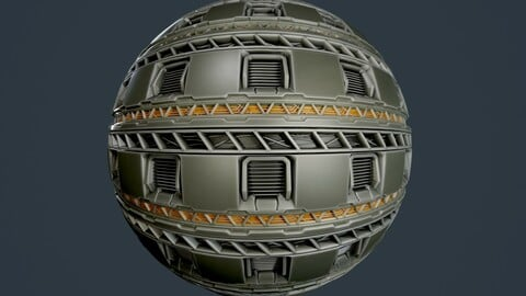 Sci-Fi Military Seamless PBR Texture 92