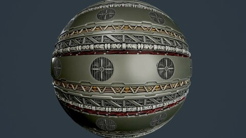 Sci-Fi Military Seamless PBR Texture 93
