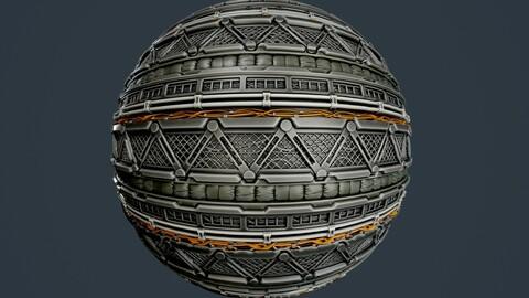 Sci-Fi Military Seamless PBR Texture 97