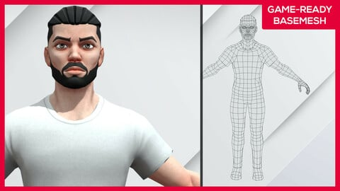 Kiroh (Clothes on) - Stylized Male Character - Game Ready