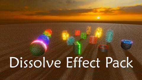 Dissolve Effect Pack For Unity 2020.1.6f1 HDRP or Higher
