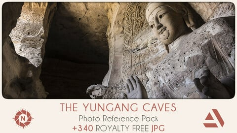 Photo Reference Pack: The Yungang Caves