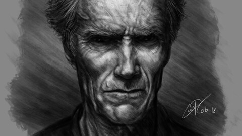 Clint Eastwood by Caio ROB