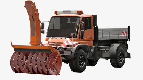 Snow Plow Truck MB Unimog U500