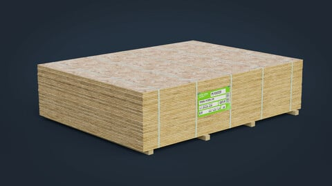 Pallet Plywood GameReady + LODs