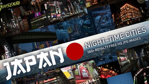 Japan Night-Time Cities Photopack