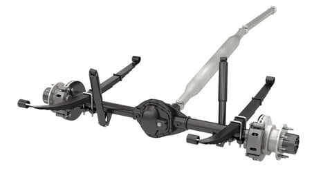 DUALLY AXLE AND DRIVESHAFT