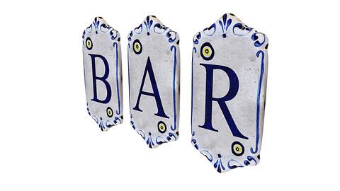 old stone bar sign 3D model