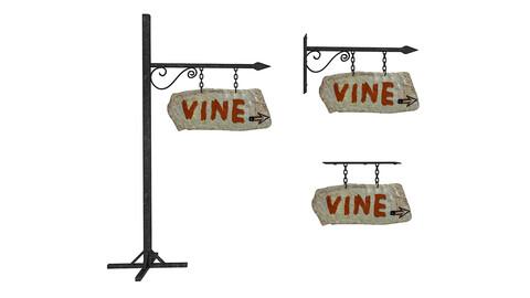 old stone vine sign 02