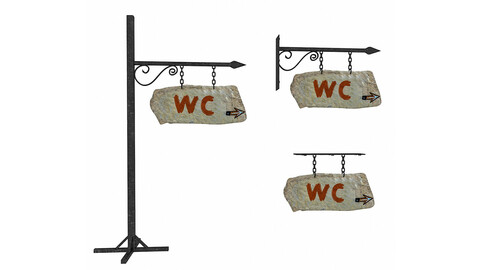 old stone wc sign 02