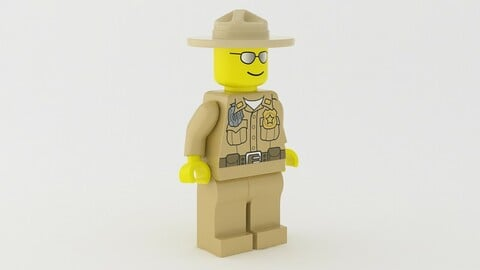 Lego Sheriff Minifigure 3d model