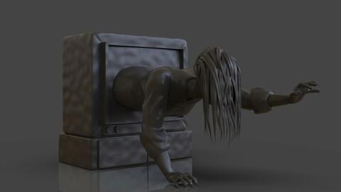 Sadako Ringu 1998 3D Print and Timelapse