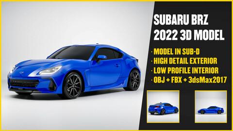 SUBARU BRZ 2022 3D Model