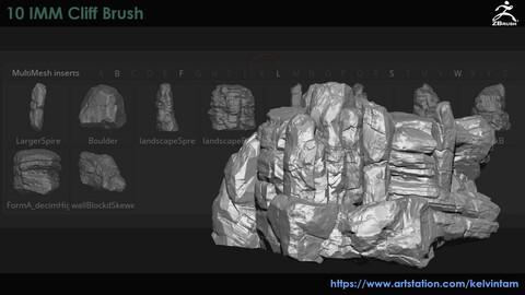 (Zbrush)10 Cliff IMM Brush