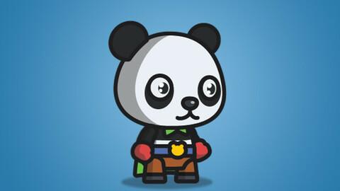 Super Panda 2D Character Sprite