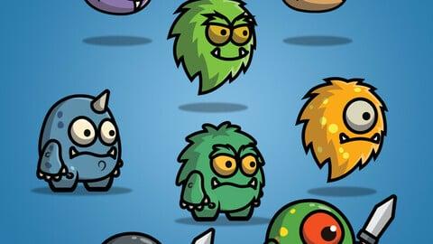 Cartoon Enemy Pack 01