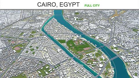 Cairo city  Egypt 3d model 30km
