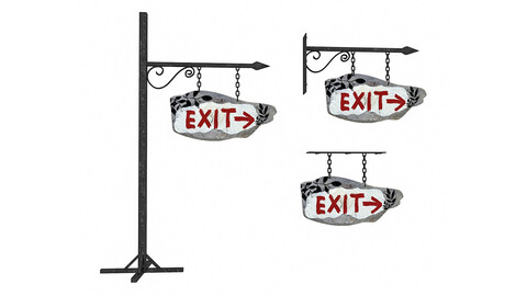 old wooden exit sign 02