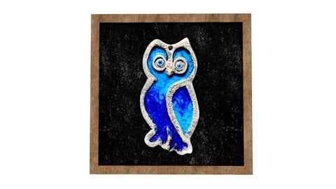 owl relief painting