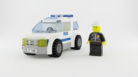 Lego Patrol Car & Police Officer Set
