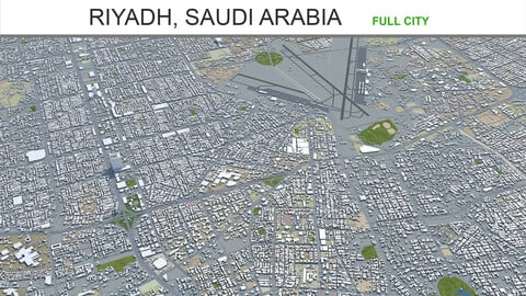Riyadh city Saudi Arabia 3d model 120km