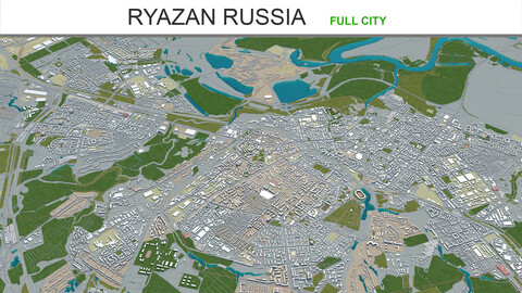 Ryazan city Russia 3d model 50km