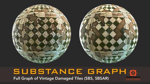 Vintage Damaged Tiles