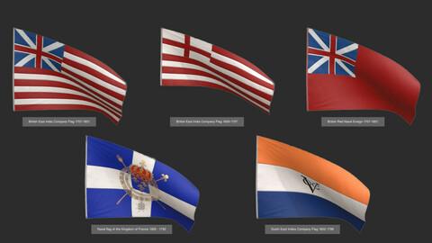 Old Merchants Naval Flags