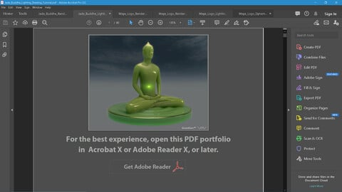 Jade Buddha Lighting, Shading and Rendering Tutorial