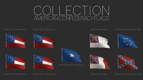 American Confederacy Flags (Civil War)