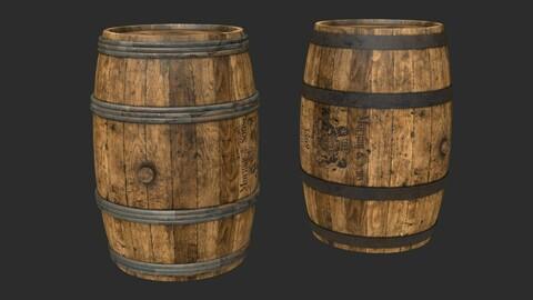 Wooden Barrels Assets 3