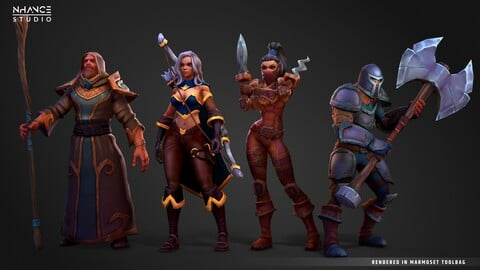 Stylized Fantasy Newbie Outfits Pack